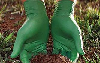 Eco-friendly nitrile glove accelerates biodegradation