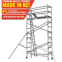 Aluminium Mobile Scaffold | Single Width 2m Tower