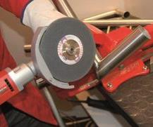 The UKC 3-R for stainless and aluminium fillet weld grinding