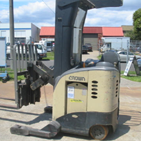 Used Crown Ride on Reach Forklift | RR50