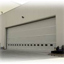 Industrial fold up roller doors from DMF International