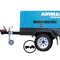 Trailer Mounted Diesel Air Compressors | Airman PDS130S-6B4T