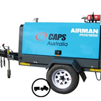 Trailer Mounted Diesel Air Compressors | Airman PDS185S-6C2T