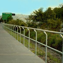 Corrosion-free bikeway barriers aid Motorway Cycle Way Project