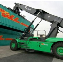Reach stacker vs. laden container handler