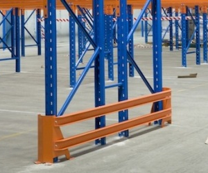 The design of the rack protection ensures that the protector will act as a sacrificial barrier.