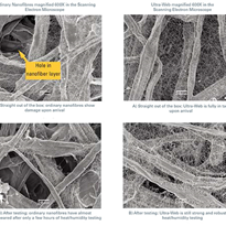 Ordinary nanofibre proven inferior to Ultra-Web®