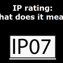 IP rating: what does it mean?