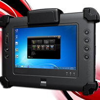 "RuggON's new 7"" rugged full function Windows-based tablet PC"