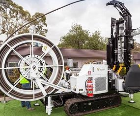 The Coiled Tube drill rig developed by CU researchers. (Image: Curtin University)
