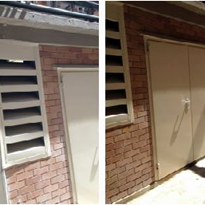 Flexshield Acoustic Louvres & Sonic Access Doors for plant room