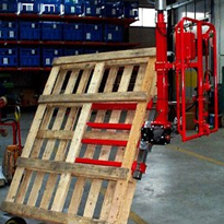 Industrial pneumatic lifter for pallet handling
