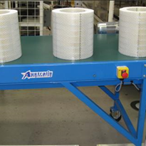 Powered adjustable height conveyor system provides turnkey solution
