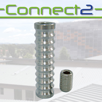 Concrete Insert Only with Grub Screw | Connect2