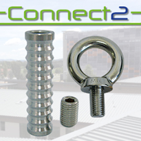 Concrete Insert, Grub Screw & Collared Eyebolt | Connect2