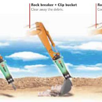 Hydraulic Rock Breakers - Silver Clip Range