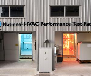 The National HVAC Performance Test Facility in Newcastle broadens CSIRO's solar cooling research. Courtesy CSIRO