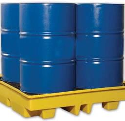 4-Drum Spill Containment & Storage Pallet