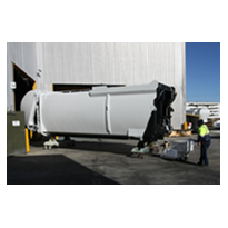 Moving truck mounted compactors