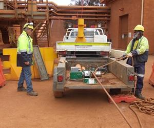 The Kennards Lift & Shift winch at the Boddington bauxite mine.