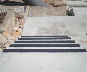 Safe Grip anti slip stair nosing at installation time January 2011