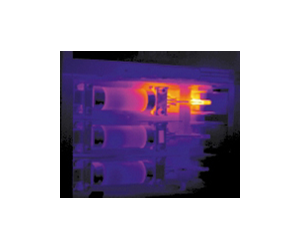 Infrared image shows bad contact on a disconnect switch controlling refrigeration in a produce warehouse