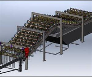 3D CAD drawing of powered chain conveyor.