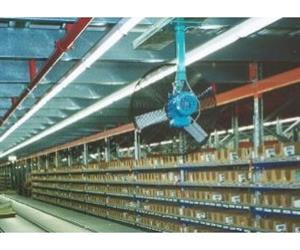 In packaging plants and large assembly lines, the air circulators ensure stale air is expelled