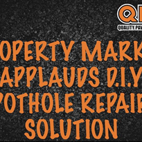 Property market applauds DIY pothole repair solution