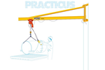 Jib Crane | Practicus Wall Mount | 80-2500kg | Capacity 180 Degrees