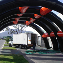 Large Portable Inflatable Field Space