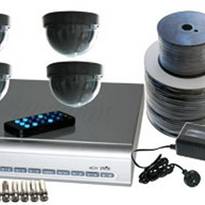 DVR & Camera Package - 4 Channel DVR With 4 Dome Cameras