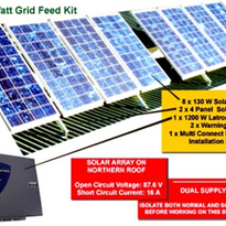 Solar Power Kit - Grid Connect Kit 1 - 1080W AC