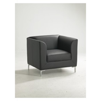 Leather Reception Chairs - Single Seater - Madrid
