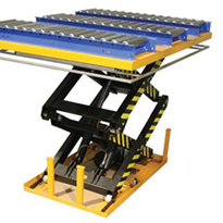 Scissor Lifts With Roller Conveyors From Optimum Handling Solutions