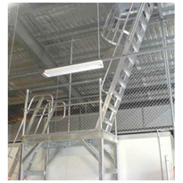 AM-BOSS Cage Access Ladder for Roof Access Over 6m In Height