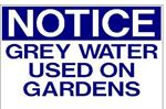 Garden Sign | 'Grey water used on gardens'