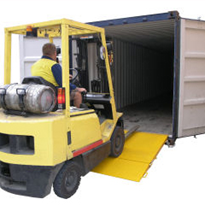 Container Access Ramp from Optimum Handling Solutions
