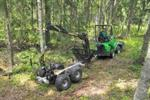 Wood Processing Loader Attachment | Timber Trailer with Loader