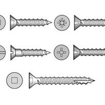 Csk Self Tapping Screws (304, 316 Stainless Steel)