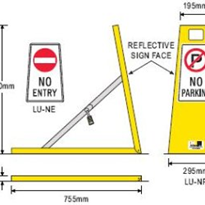 Collapsible Steel Parking & Vehicle Access Barrier - Lock-Up