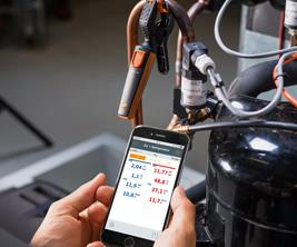 The testo 115i can clamp onto any component you need temperatures for