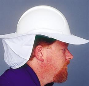 Unisafe Helmet Brim & Neck Flaps / We have your head covered!