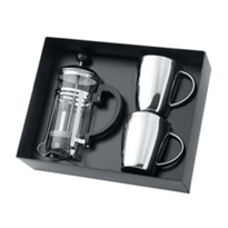 Executive Gifts - Coffee Plunger & Stainless Steel Coffee Cups