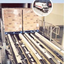 Automatic Vehicle Loading/Unloading System- unloads 26 pallets in three and a half minutes