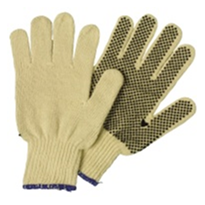 Polyester / Cotton Knitted Polka Dot Glove