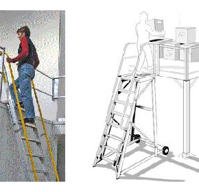 Height Access Ladders - Mezzalad & Stockmaster Step Through