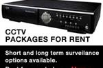 CCTV Packages available for Rent