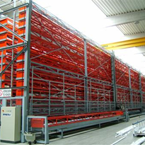 Industrial Automatic Storage System DynBar for long goods