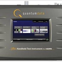 HDMI Test - Quantum Data 780 Handheld HDMI Test Instrument